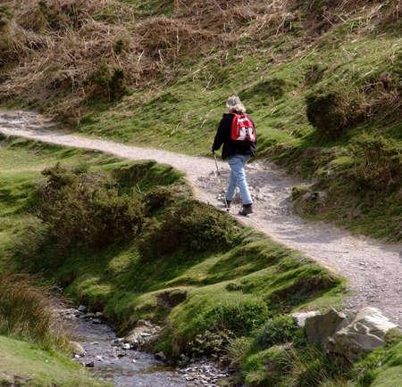 carding: walker stream footpath uphill carding mill valley shropshire england uk
