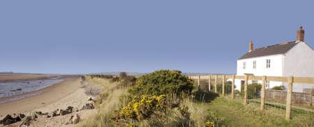 turismo ecologico: Braunton Burrows Biosfera Devon  Foto de archivo