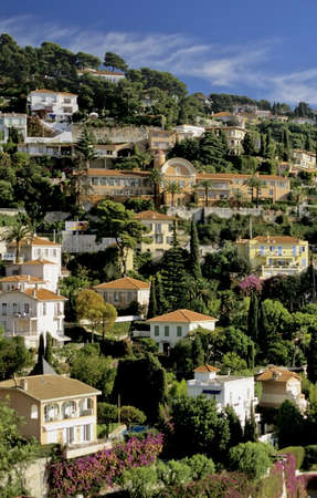 Alpes: houses villefranche sur mer alpes maritime french riviera cote dazur provence france europe