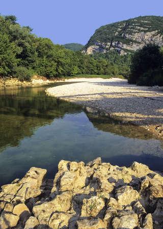 jura: river bienne jura national park franche-compte france europe