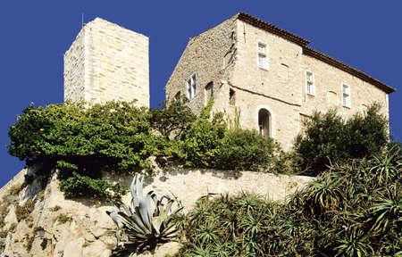 Museo Picasso castillo Grimaldi casco antiguo antibes Alpes-Costa Azul mar�timo franc�s Costa Azul sur de Francia Europa Foto de archivo - 938616