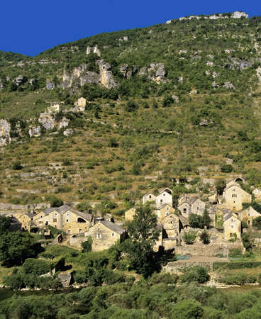 hauterives village in the gorge du tarn lozere languedoc-roussillon south of france europe Stock Photo - 938627