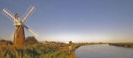 norfolk broads river waveney starcey arms windpump norfolk broads national park east anglia england uk europe