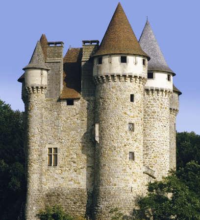 limousin: chateau de val limousin auvergne correze cantal massif central france