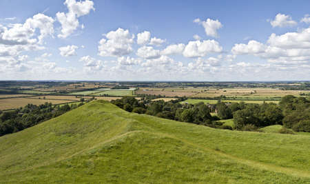 country park: vistas de la campi�a de Warwickshire Park Burton Dassett Hills Country Foto de archivo