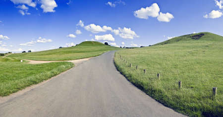 country park: carretera rural Warwickshire burton el pa�s dassett colinas parque Foto de archivo
