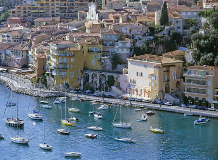 french riviera: villefranche sur mer alpes maritime french riviera cote dazur provence france europe