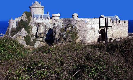 st malo: Forte La Latte vicino costa malo v smeraldo Ille et Villaine Europa Francia Bretagna Archivio Fotografico