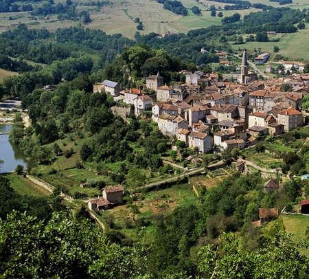 pyrenees: france midi pyrenees caylus village aveyron