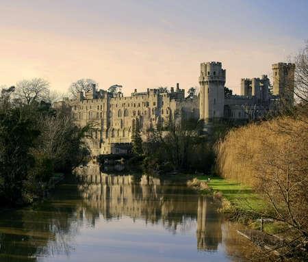 avon: warwick castle warwickshire midlands england uk river avon