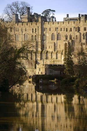 warwickshire: warwick castle warwickshire midlands england uk river avon