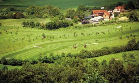 vale: widok na Vale z Aylesbury i Coombe wsi z Coombe Hill Ridgeway ścieżka Buckinghamshire Chilterns Zdjęcie Seryjne