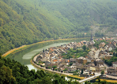 meuse: river meuse montherme ardennes champagnes-ardennes france europe Stock Photo