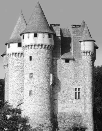 cantal: chateau de val limousin auvergne correze cantal massif central france