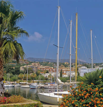 dazur: le lavandou holiday resort near toulon var cote dazur provence france Stock Photo