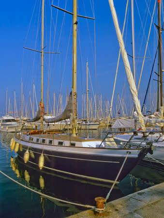hyeres port holiday resort near toulon var cote dazur provence france photo