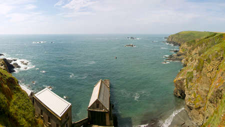 lifeboat station: the lizard point the southernmost tip of land in england cornwall uk lifeboat station Stock Photo