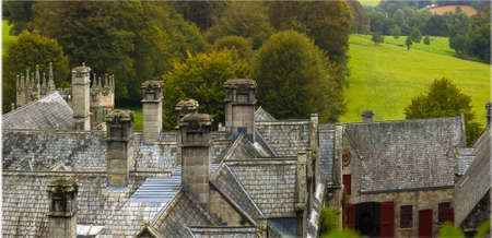 aristocracy: country house and stately home of lanhydrock bodmin cornwall england uk Stock Photo