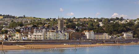 devon: holiday resort town teignmouth devon england uk