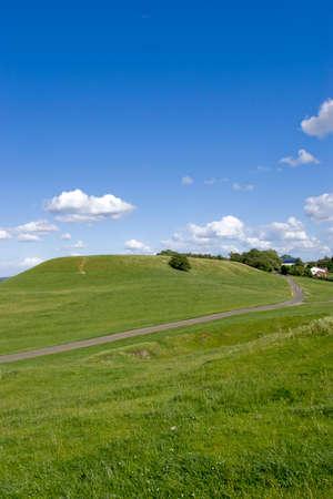 warwickshire: view over warwickshire countryside from the burton dassett hills country park