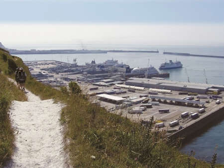 kent dover docks footpath white cliffs country trail  photo
