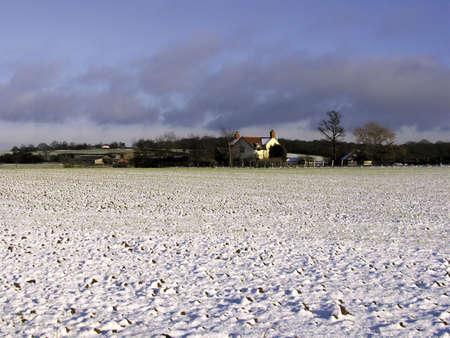 warwickshire farmland covered in snow winter Stock Photo - 1729786