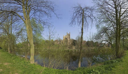 severn: worcester city the river severn worcestershire the midlands england uk
