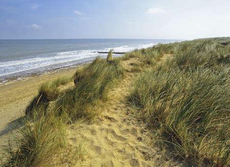 norfolk coast sea palling england uk photo