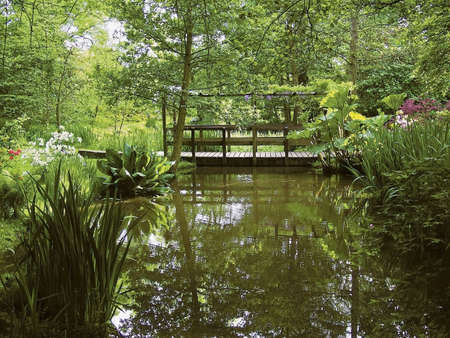 enfield: londra Enfield trent paese parco parco giardino l'acqua Archivio Fotografico