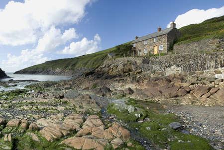 quin: cove port quin cornish coast north cornwall england uk Stock Photo
