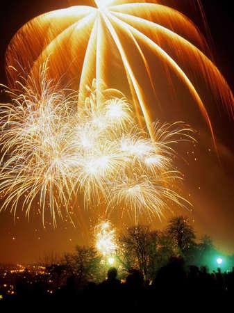 guy fawkes night: fuegos artificiales en el Alexandra Palace haringey norte de Londres