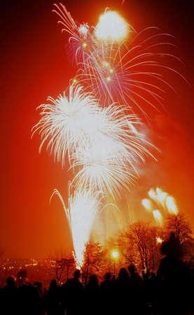 alexandra: fireworks display at alexandra palace haringey north london Stock Photo