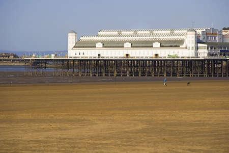 weston super mare: weston super mare beach seashore somerset england uk Stock Photo