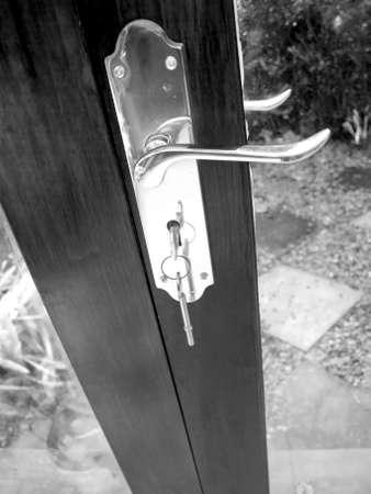 key in door door security Stock Photo - 1896462
