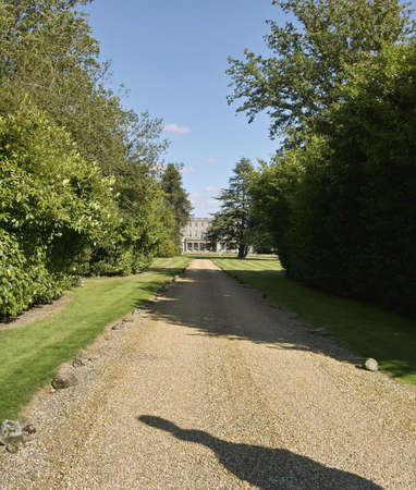 cattle grid: the entrance to umbersale hall stately home uk