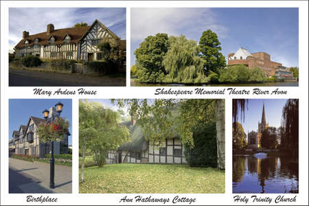 stratford: digital picture postcard from my own images of the william shakespeare landmarks in stratford-upon-avon Stock Photo
