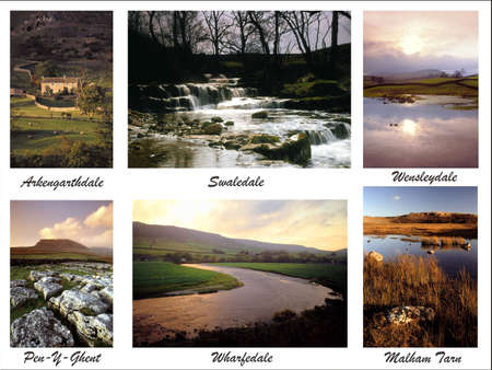 wharfedale: a digital picture postcard of the yorkshire dales collage put together from my own images