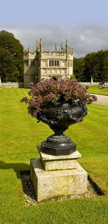 jacobean: country house and stately home of lanhydrock bodmin cornwall england uk Stock Photo