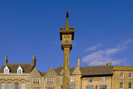 stow: stow on the wold town centre the cotswolds gloucestershire the midlands england uk Stock Photo