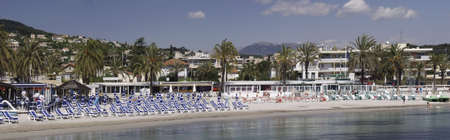panoramics: beach juan-les-pins cote dazur alpes-maritime provence south of france europe