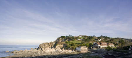 devon: colour image lee bay ilfracombe the devon coast england uk