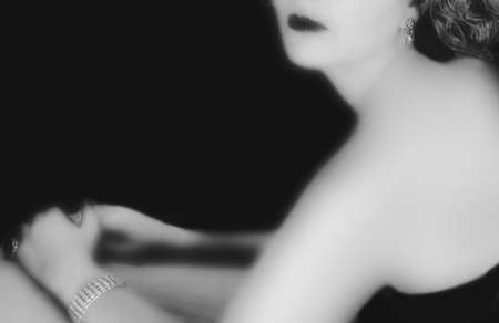 touched: a woman photographed in the style of hollywood film noir
