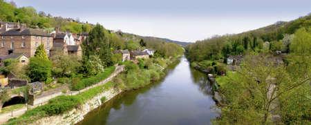 severn: river severn ironbridge gorge shropshire england uk Stock Photo