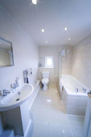 bathroom sink shower loo toilet bath sink Stock Photo