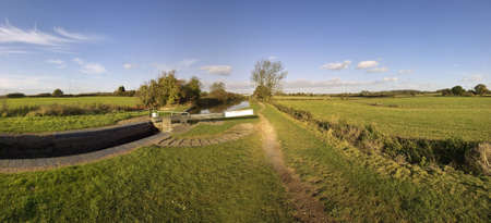 the worcester and birmingham canal stoke prior worcestershire Stock Photo - 2044985