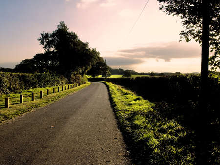 ramble: country lane the baddesley clinton estate warwickshire midlands england uk