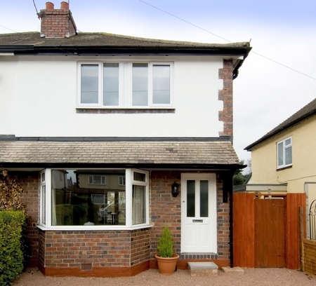 detached: semi detached house exterior view Stock Photo