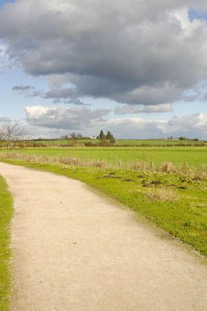 cycleway: cycleway sentiero e la Greenway in disuso e convertiti linea ferroviaria Stratford upon Avon Warwickshire Midlands England UK