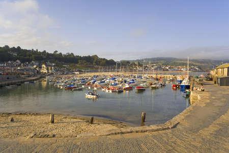 dorset: lyme regis dorset england uk the harbour