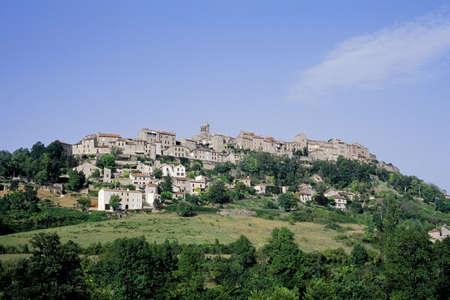 sur: cordes sur ciel village tarn midi pyrenees france eureope eu